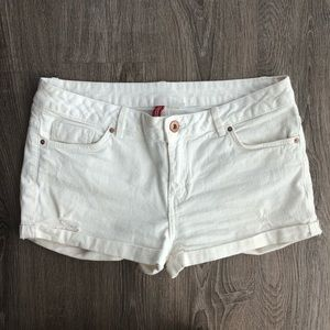 H&M Divided White Jean Shorts